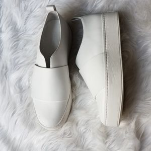 Vince white slip on platform sneakers shoes 8.5